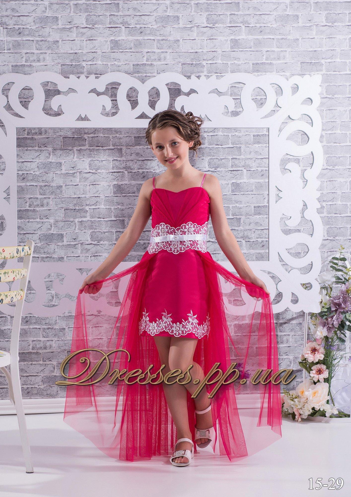 Детское платья со шлейфом